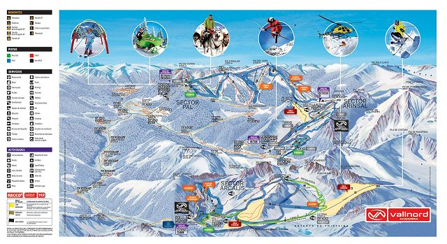 Vallnord Mapa , Vallnord plan , Vallnord map